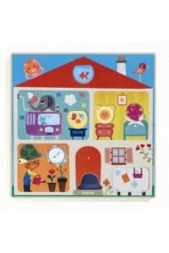 Puzzle cu piese interschimbabile Djeco