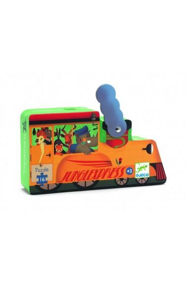 Puzzle locomotiva de tren Djeco