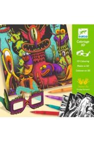Atelier de colorat 3D monstruleti simpatici Djeco