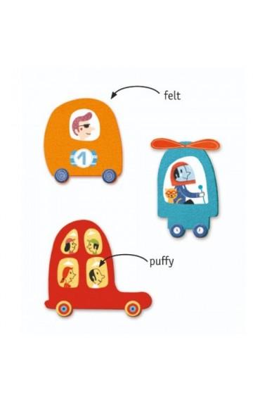 Colaje creative cu masini Djeco