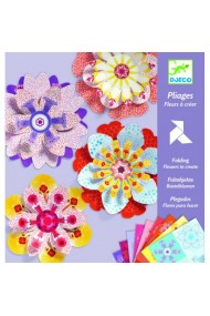 Creeaza si decoreaaza cu flori colorate din hartie Djeco