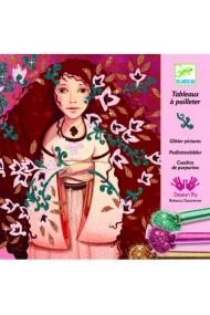 Joc creativ cu sclipici colorat portrete Djeco