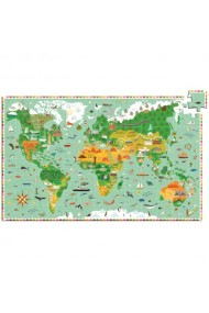 Puzzle observatie in jurul lumii Djeco
