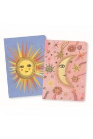 Set 2 carnetele luna si soare Aurelia Djeco