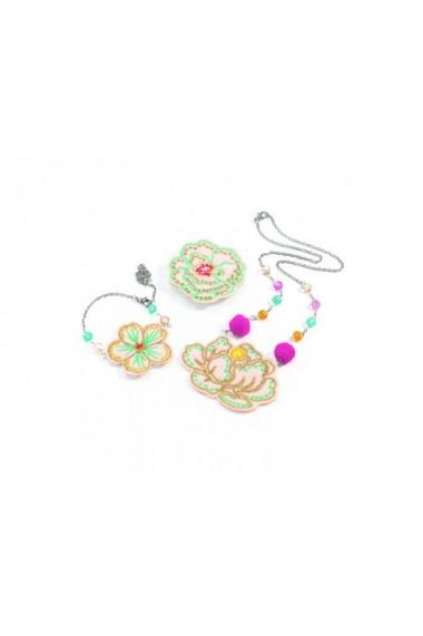 Set bijuterii brodate cu flori Djeco