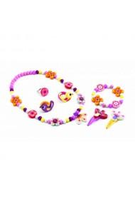 Set bijuterii cu flori colorate Djeco