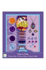 Set de confecţionat bijuterii cu stele Djeco