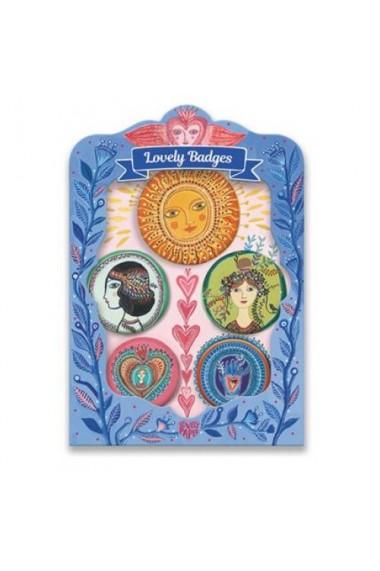 Set insigne medalioane Djeco