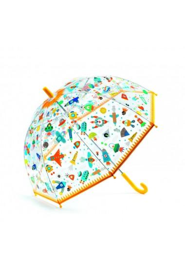 Umbrela copii colorata cu nave si vehicule Djeco