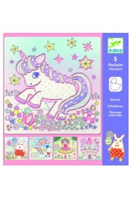 Sabloane desen o lume magica cu unicorni Djeco