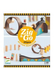 Set de constructie trasee ZigGo 25 piese Djeco