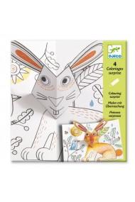 Planse de desenat cu surprize Bunny up Djeco