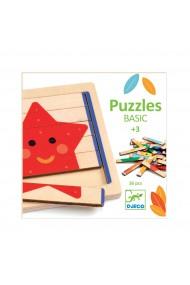 Puzzle basic lemn 36 piese Djeco