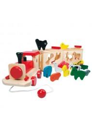 Trenulet colorat cu animale Bino