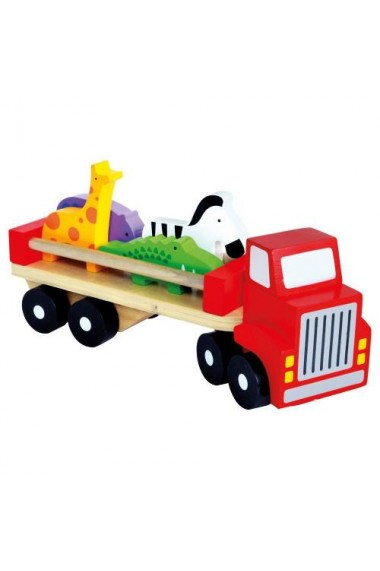 Camion colorat cu animale Bino