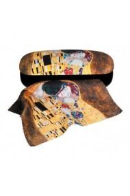 Etui ochelari cu textil si protectie Klimt Sarutul Fridolin