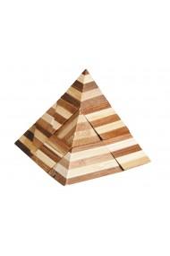 Joc logic IQ din bambus 3D Pyramid Fridolin