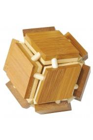 Joc logic IQ din lemn bambus 3D Magic box Fridolin