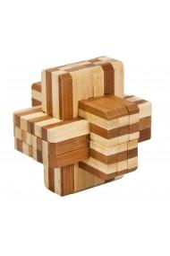 Joc logic IQ din lemn bambus Block cross Fridolin
