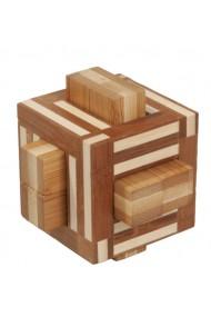 Joc logic IQ din lemn bambus Double sticks Fridolin