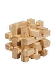 Joc logic IQ din lemn bambus in cutie metalica-2 Fridolin