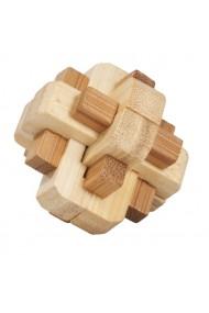 Joc logic IQ din lemn bambus in cutie metalica-5 Fridolin
