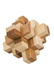 Joc logic IQ din lemn bambus in cutie metalica-9 Fridolin