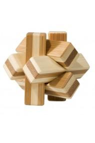 Joc logic IQ din lemn bambus Knot cutie metal Fridolin