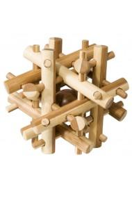 Joc logic IQ din lemn bambus Magic sticks Fridolin