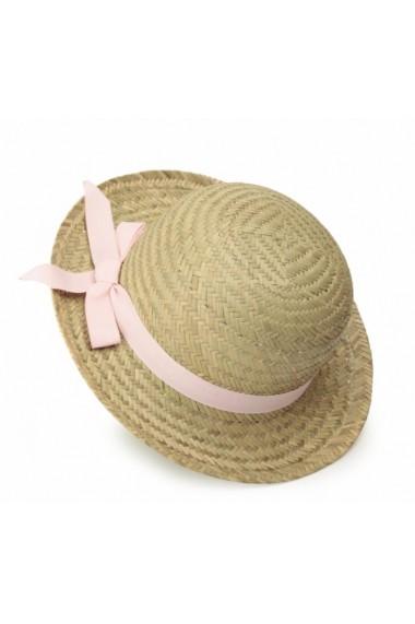 Palarie din paie cu funda roz Egmont Toys