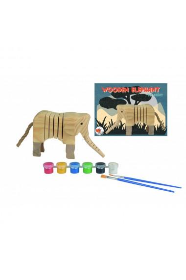 Set de pictat elefant din lemn Egmont Toys