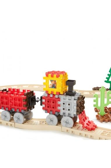 Blocuri de constructie tren cu aburi Little Tikes