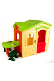 Casuta picnic cu terasa crem Little Tikes