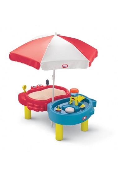 Masuta pentru nisip si apa cu umbreluta Little Tikes