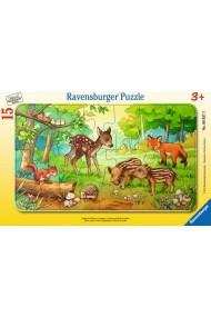 Puzzle animale in padure 15 piese Ravensburger