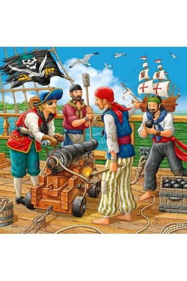 Puzzle aventurile piratilor 3x49 piese Ravensburger