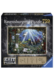 Puzzle copii si adulti Exit 4 in submarin 759 piese Ravensburger