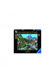 Puzzle copii si adulti orasul Banff 1000 piese Ravensburger