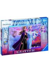 Puzzle frozen Elsa si Ana 100 piese Ravensburger