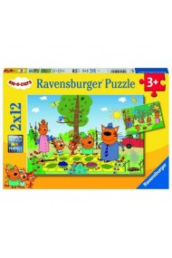 Puzzle kid cats 2x12 piese Ravensburger