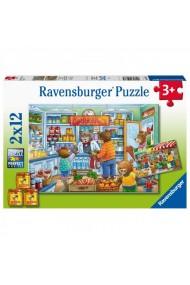 Puzzle magazin alimentar 2x12 piese Ravensburger