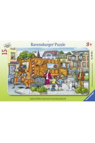 Puzzle masina de gunoi 15 piese Ravensburger