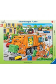 Puzzle Masina de gunoi 35 piese Ravensburger