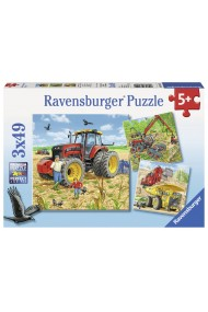 Puzzle Masinarii 3X49 piese Ravensburger