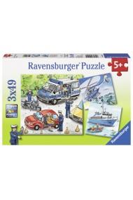 Puzzle Politie 3X49 piese Ravensburger