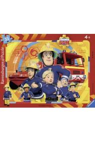Puzzle tip rama pompierul Sam 33 piese Ravensburger