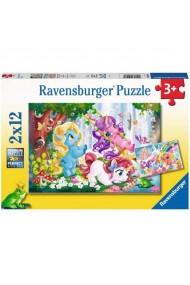 Puzzle unicorni magici 2x12 piese Ravensburger