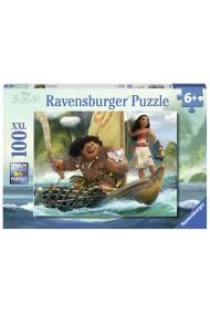 Puzzle Vaiana pe mare 100 piese Ravensburger