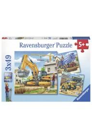 Puzzle vehicule constructii 3X49 piese Ravensburger