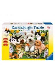 Puzzle animale prietenoase 300 piese Ravensburger